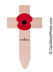 Remembrance day cross with poppy - Remembrance Day Cross...