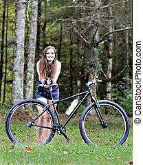 Teen Girl with Bicycle