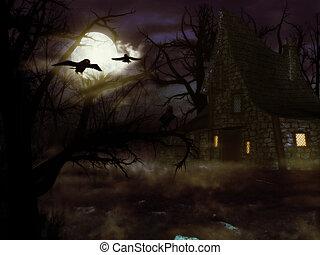 casa, feiticeira