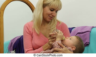 Feeding a baby