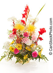 Springtime Bouquet on White - Beautiful bouquet of spring...