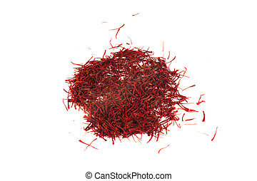 Small Heap of Saffron - Saffron is a spice derived from the...