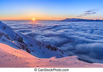 Piatra Craiului Mountains, Romania - Sunrise in The Piatra...