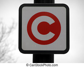 London congestion charge sign