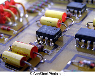 Printed circuit with electronic components