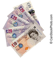 Pounds - British Pounds banknotes money