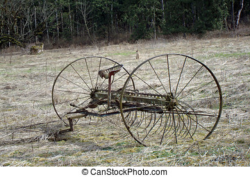 Antique Hay Rake