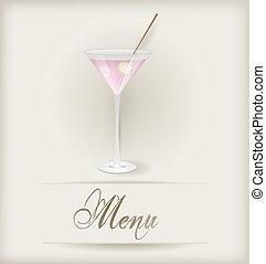 Menu with martini