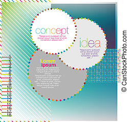 Scrapbook and infographics element