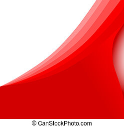 Abstract red wave