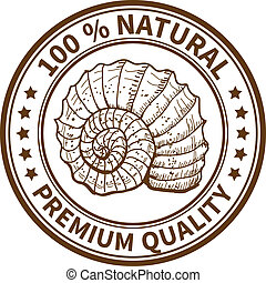 Stamp with the sea shell