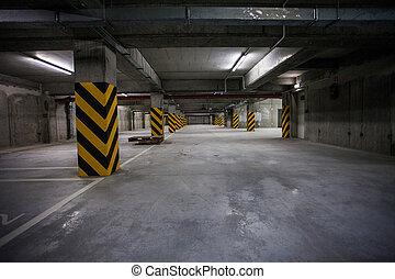 Underground Garage - Underground garage. interior shots