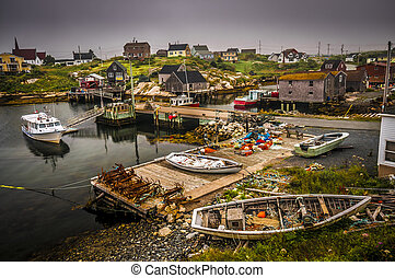 Peggy's Cove - Touristic village of Peggy's Cove Nova Scotia...