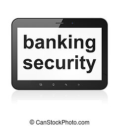 Safety concept: Banking Security on tablet pc computer