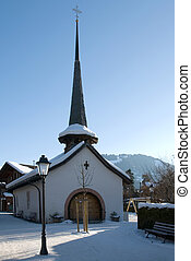 Church in the Snow - A tiny church in the Swiss winter...