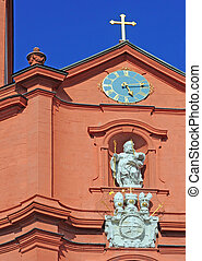 sankt blasius church in fulda, germany - baroque church of...