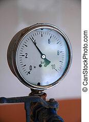 água, pressão, medida, hidráulico, rede