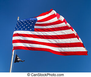 Flag - American flag waving in the breeze