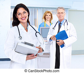 Smiling medical doctor woman - Smiling family doctor woman...