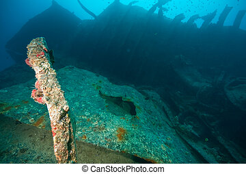 bomed area of the Thistlegorm - Wreck Thistlegorm 1941