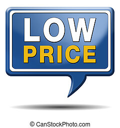 low price icon - low price product promotion sales or...