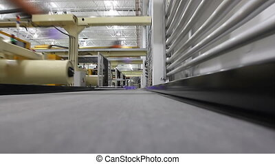 Factory Conveyor Belt 2 - A first person perspective shot...