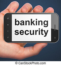 Safety concept: Banking Security on smartphone