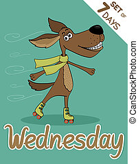 wednesday - Wednesday, weekdays hipster vector illustration...