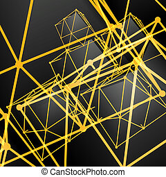 Pyramidal abstract background