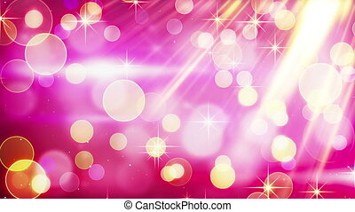 yellow pink blinking bokeh lights. computer generated...