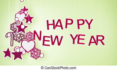 happy new year greeting loop - happy new year greeting. Part...