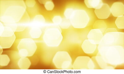 yellow blinking bokeh lights loop