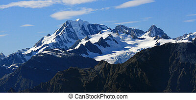 Mountains Covered With Snow - Southern Alps, New Zealand