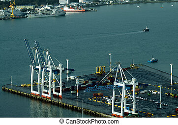 Ports of Auckland in Auckland New Zealand NZ
