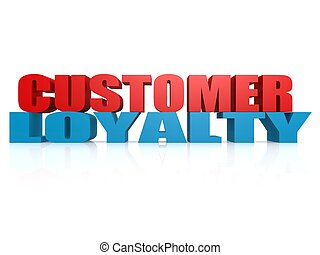 Customer Loyalty - Hi-res original 3d rendered computer...