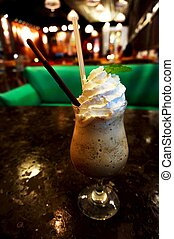 Whipped cream chocolate coffee - Whipped cream ice blended...