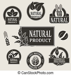 Vector nature symbols for natural product - illustration