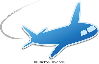 Vector flying airplane - icon, symbol for quick delivery