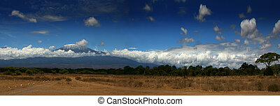 Kilimanjaro Wide - An image of Kilimanjaro wide angle.
