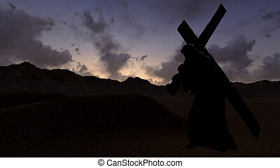 Carrying the Cross - The figure of Christ carrying the cross...