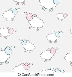 Abstract lamb seamless pattern background vector...