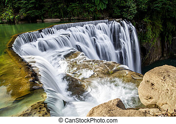 Cascading Shifen Waterfall - Shifen Waterfall in Pingxi...