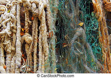 fishing net as abstract background