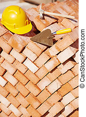 construction bricklayer tools - construction mason work...