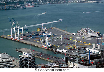 Ports of Auckland in Auckland New Zealand NZ - AUCKLAND,NZ -...