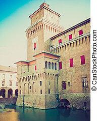 Ferrara, Italy retro looking - Ferrara City Hall (Palazzo...