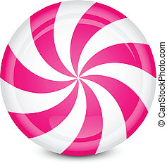peppermint candy - Vector illustration of peppermint candy