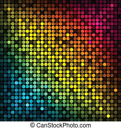 colorful disco lights - Vector background with colorful...