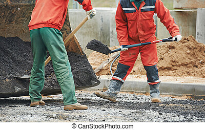 Asphalt paving works