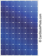 Solar panel - Detailed vector illustration of blue silicon...
